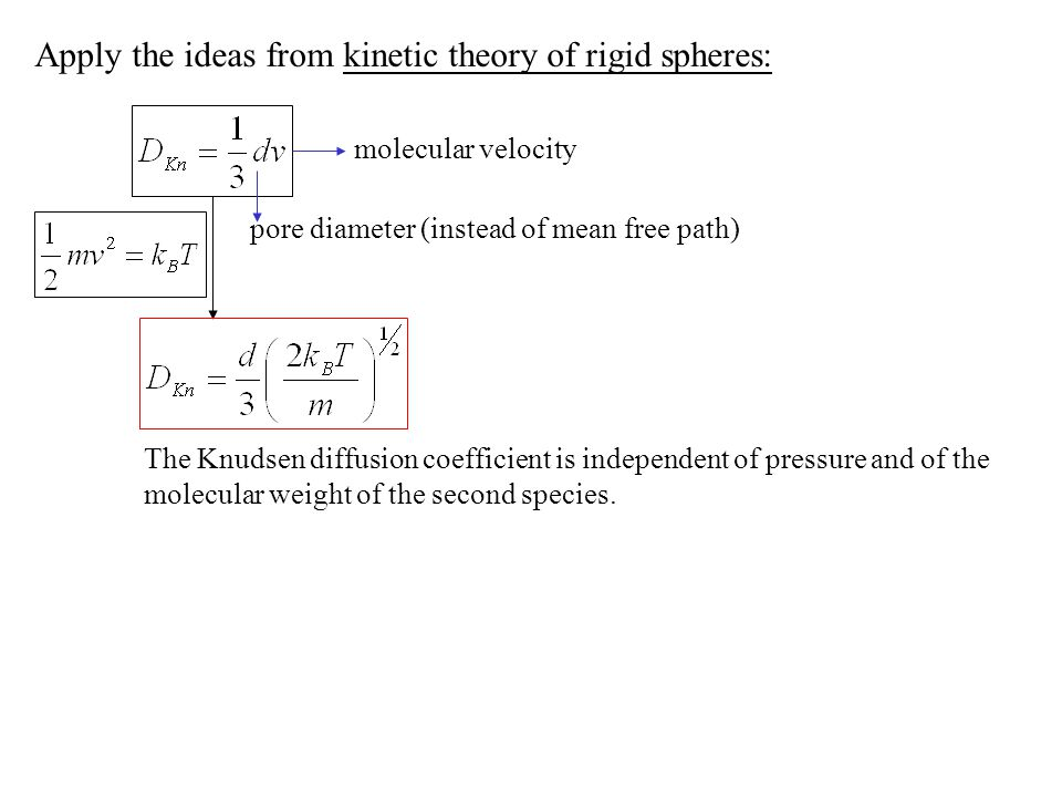 Apply the ideas from kinetic theory of rigid spheres: