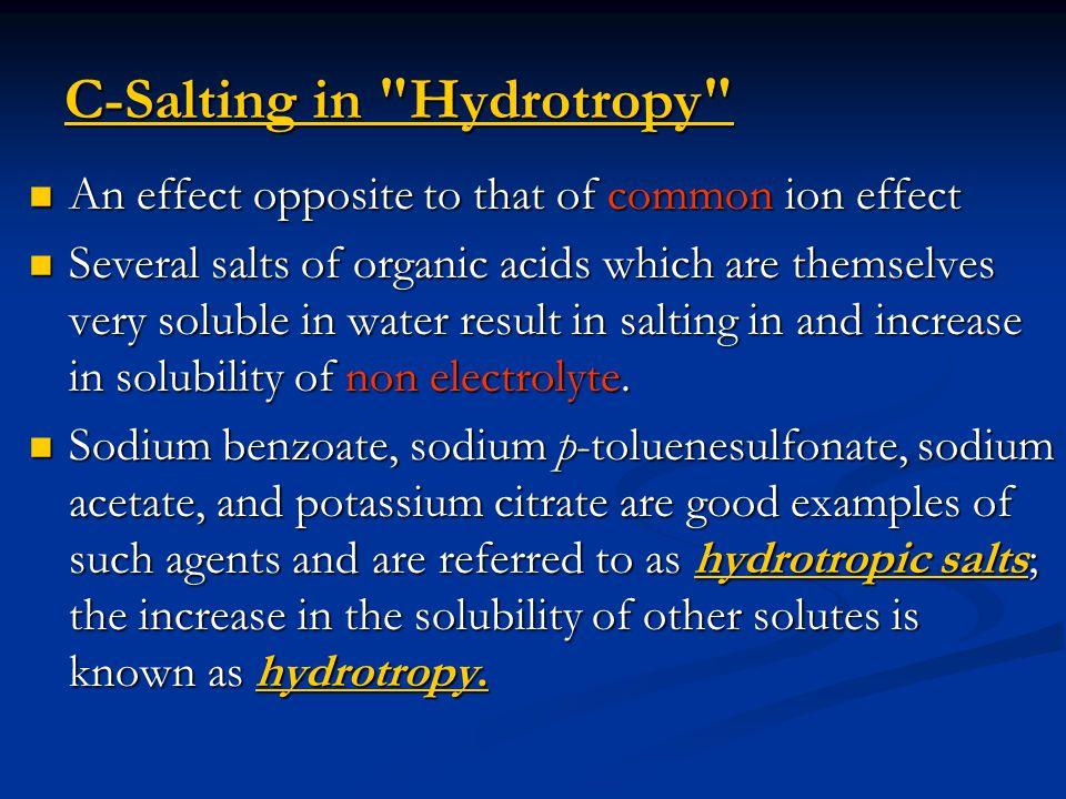 C-Salting in Hydrotropy