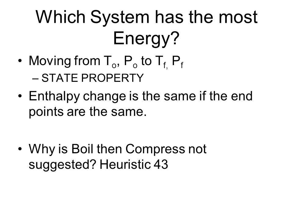Which System has the most Energy