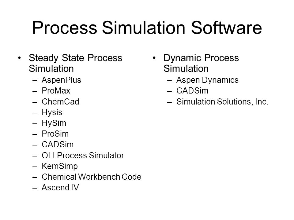 Process Simulation Software