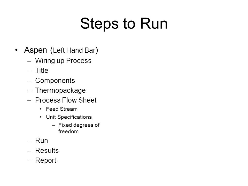 Steps to Run Aspen (Left Hand Bar) Wiring up Process Title Components