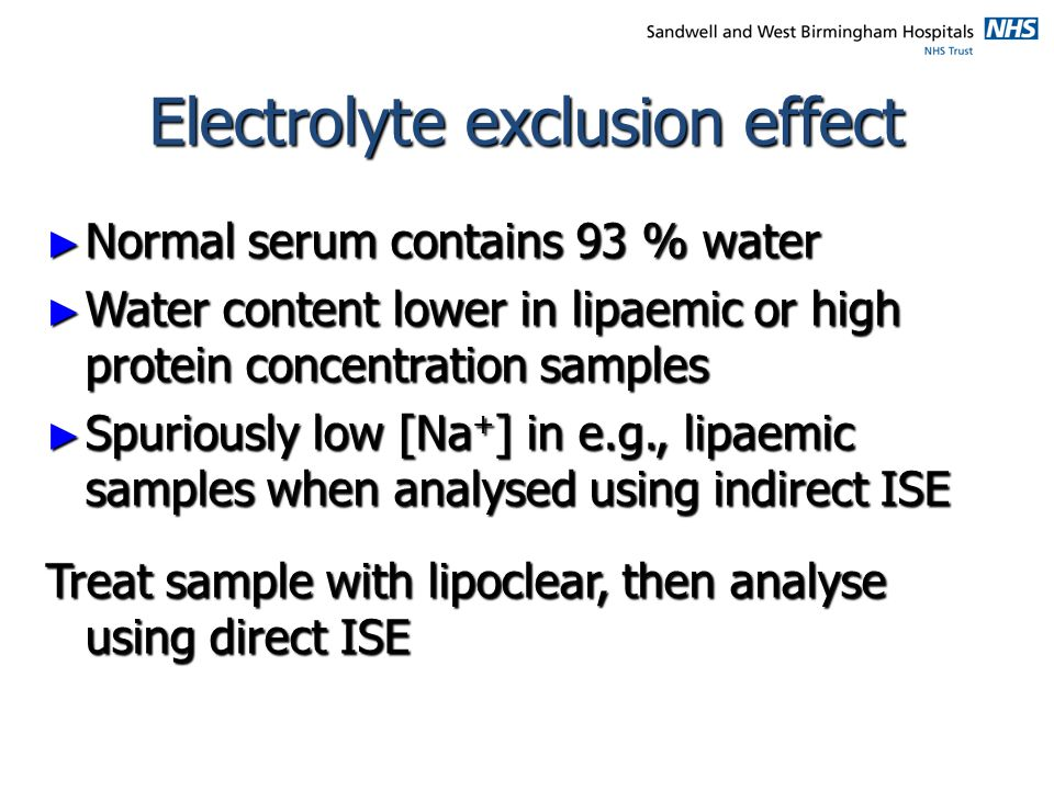 Electrolyte exclusion effect