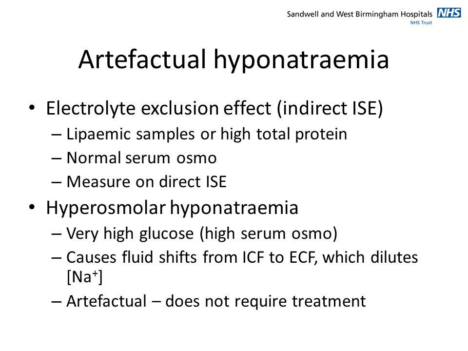 Artefactual hyponatraemia