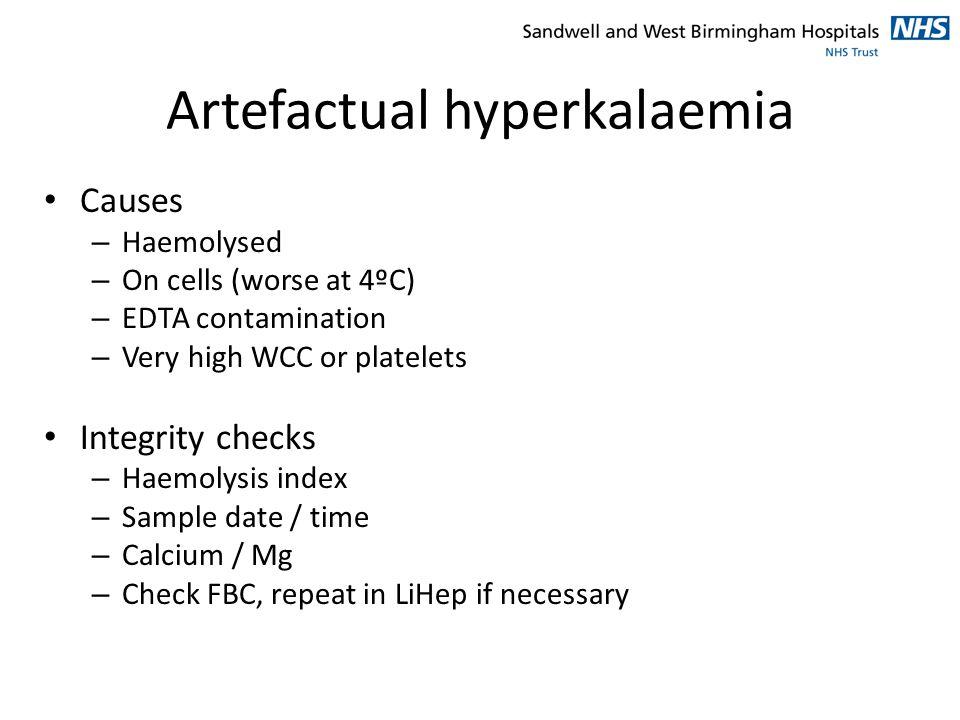 Artefactual hyperkalaemia