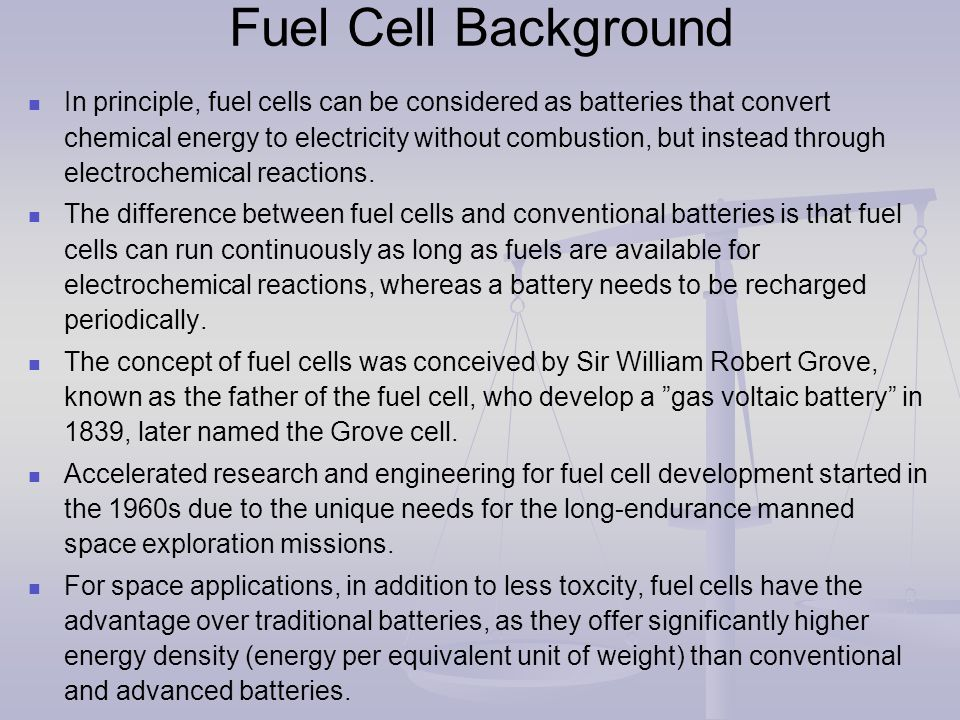 Fuel Cell Background