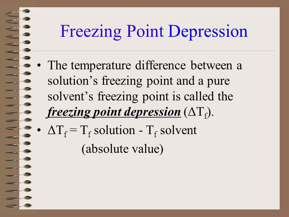what is the relationship between melting point and freezing