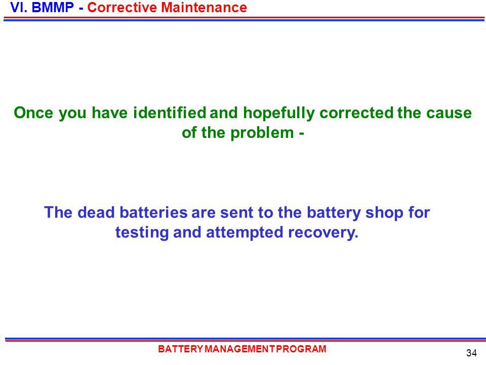 VI. BMMP - Corrective Maintenance