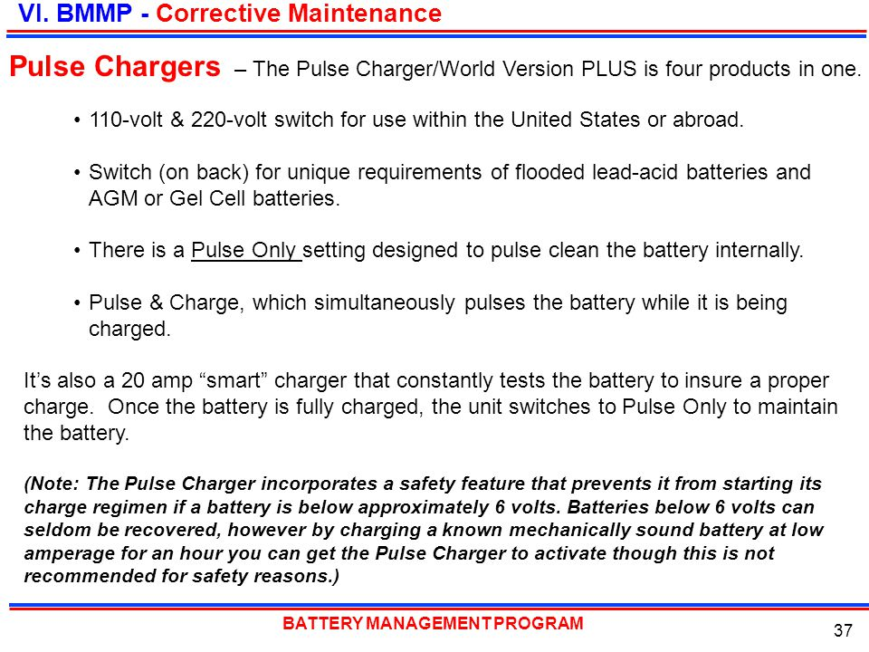 – The Pulse Charger/World Version PLUS is four products in one.