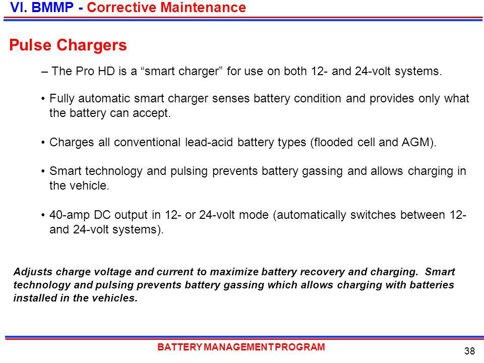 Pulse Chargers VI. BMMP - Corrective Maintenance