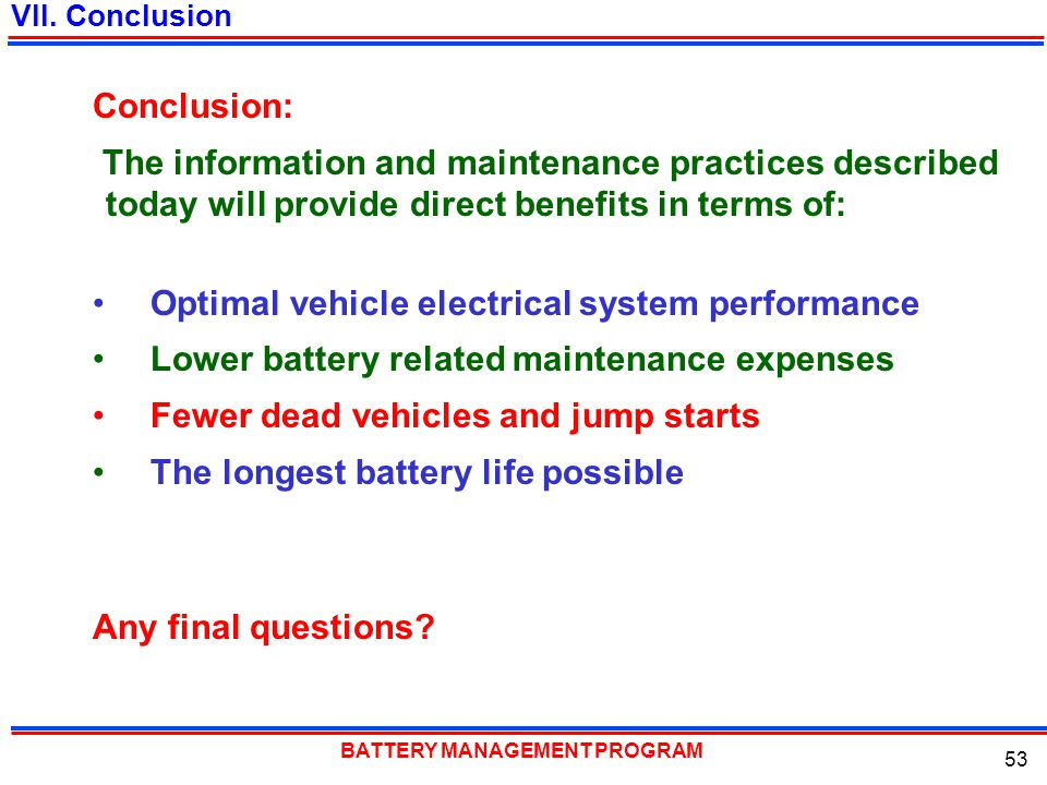 Optimal vehicle electrical system performance