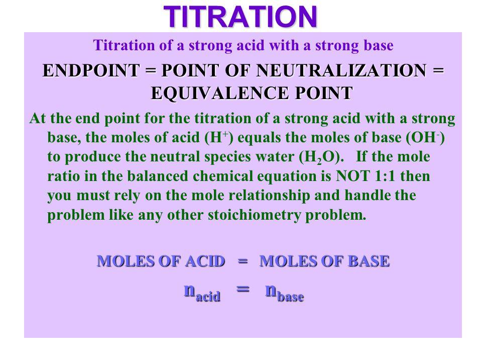 TITRATION nacid = nbase
