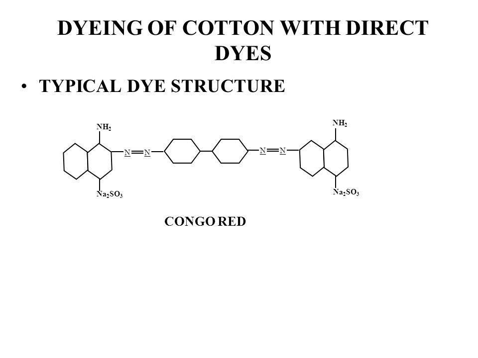 DYEING OF COTTON WITH DIRECT DYES