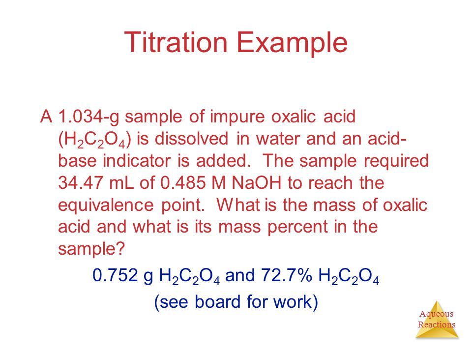 Titration Example