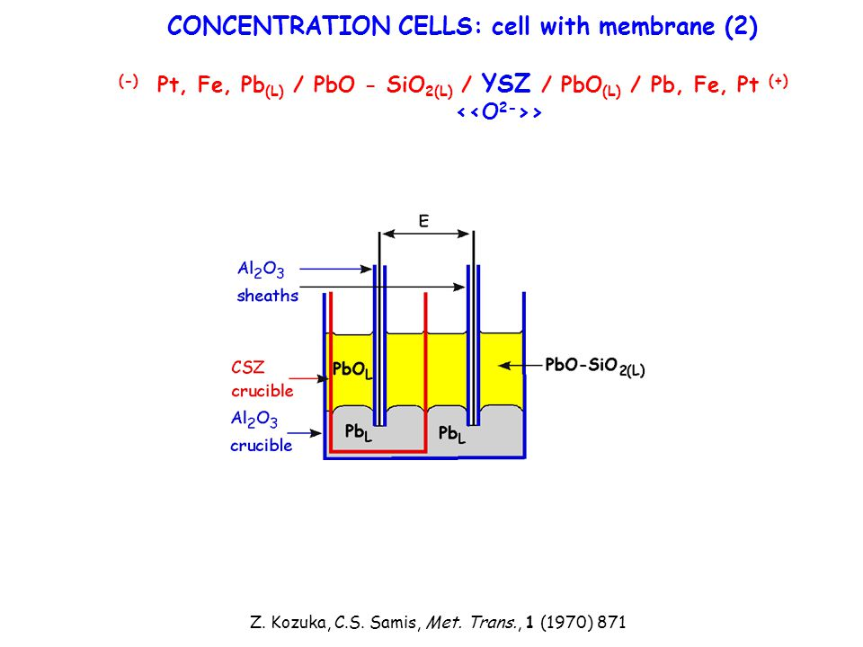 CONCENTRATION CELLS: cell with membrane (2)