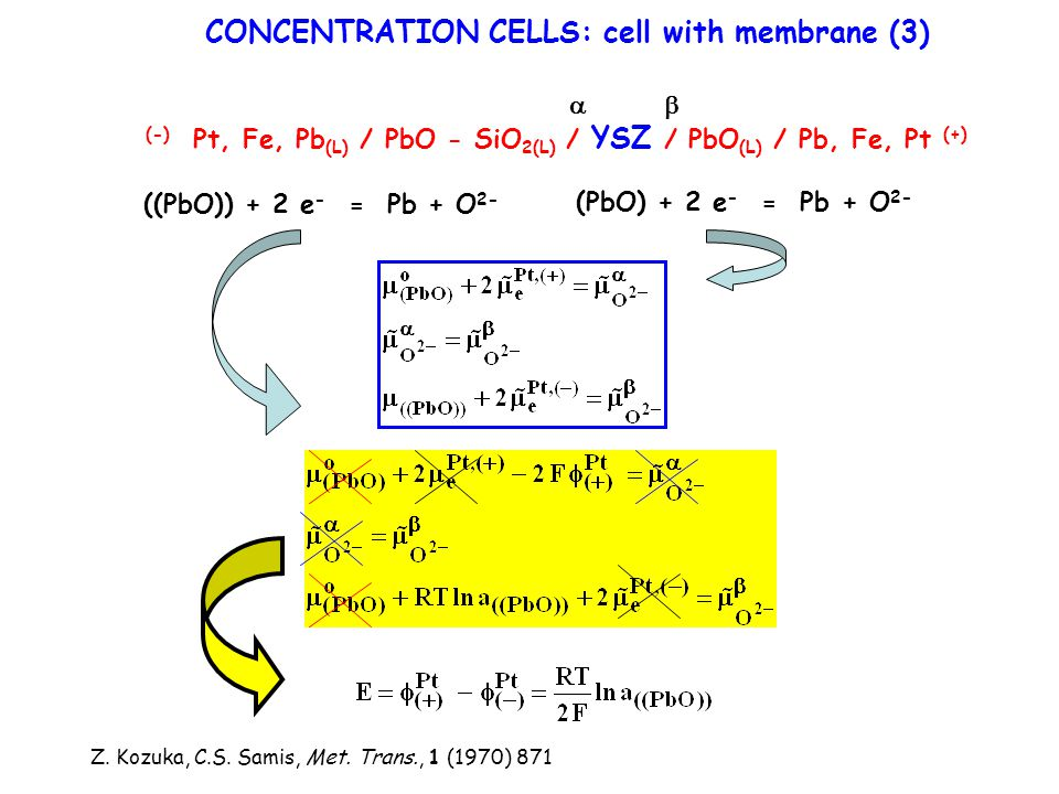 CONCENTRATION CELLS: cell with membrane (3)