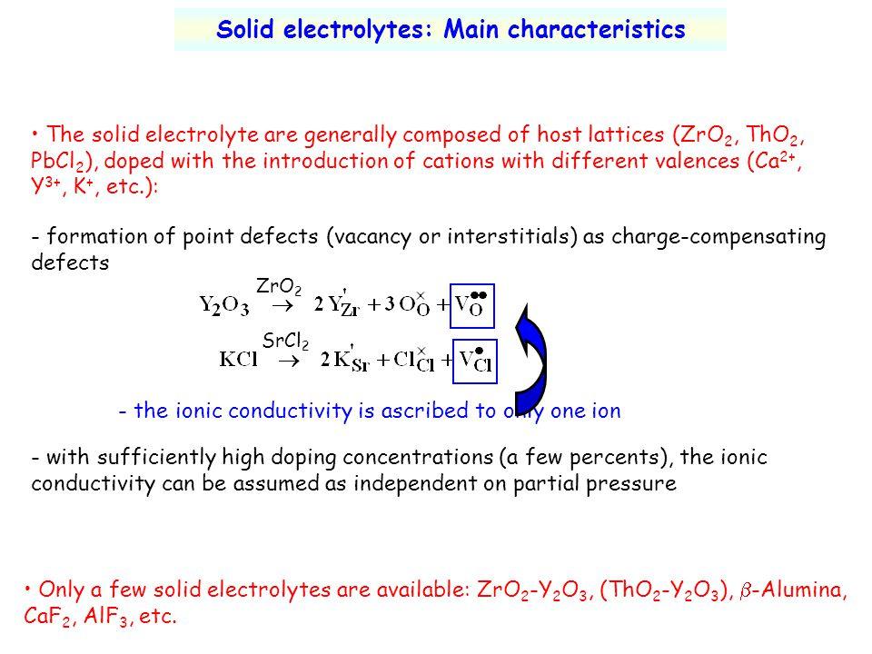 Solid electrolytes: Main characteristics