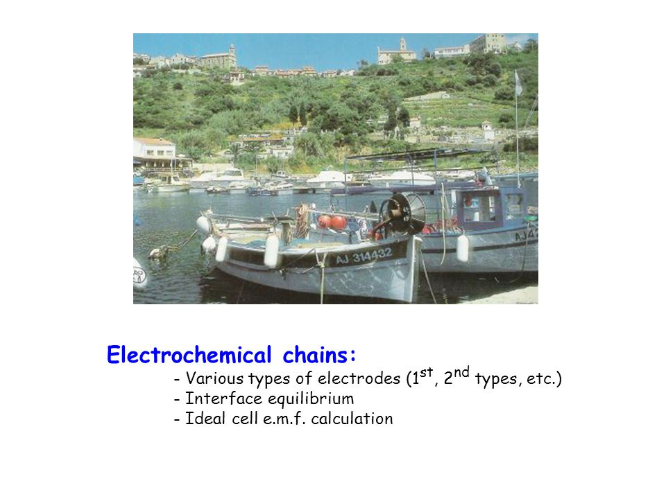 Electrochemical chains:
