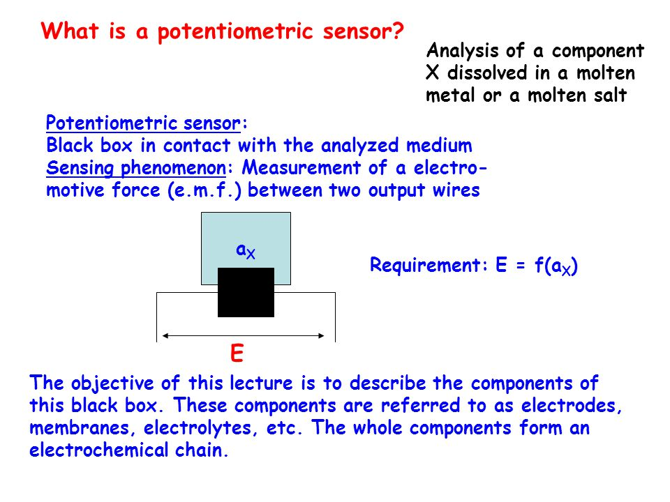 What is a potentiometric sensor