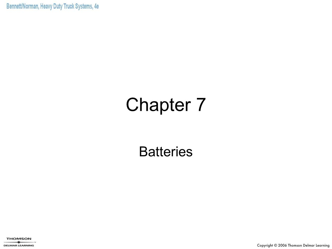 Chapter 7 Batteries