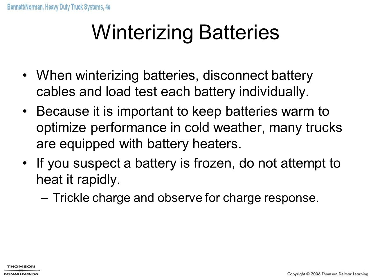 Winterizing Batteries