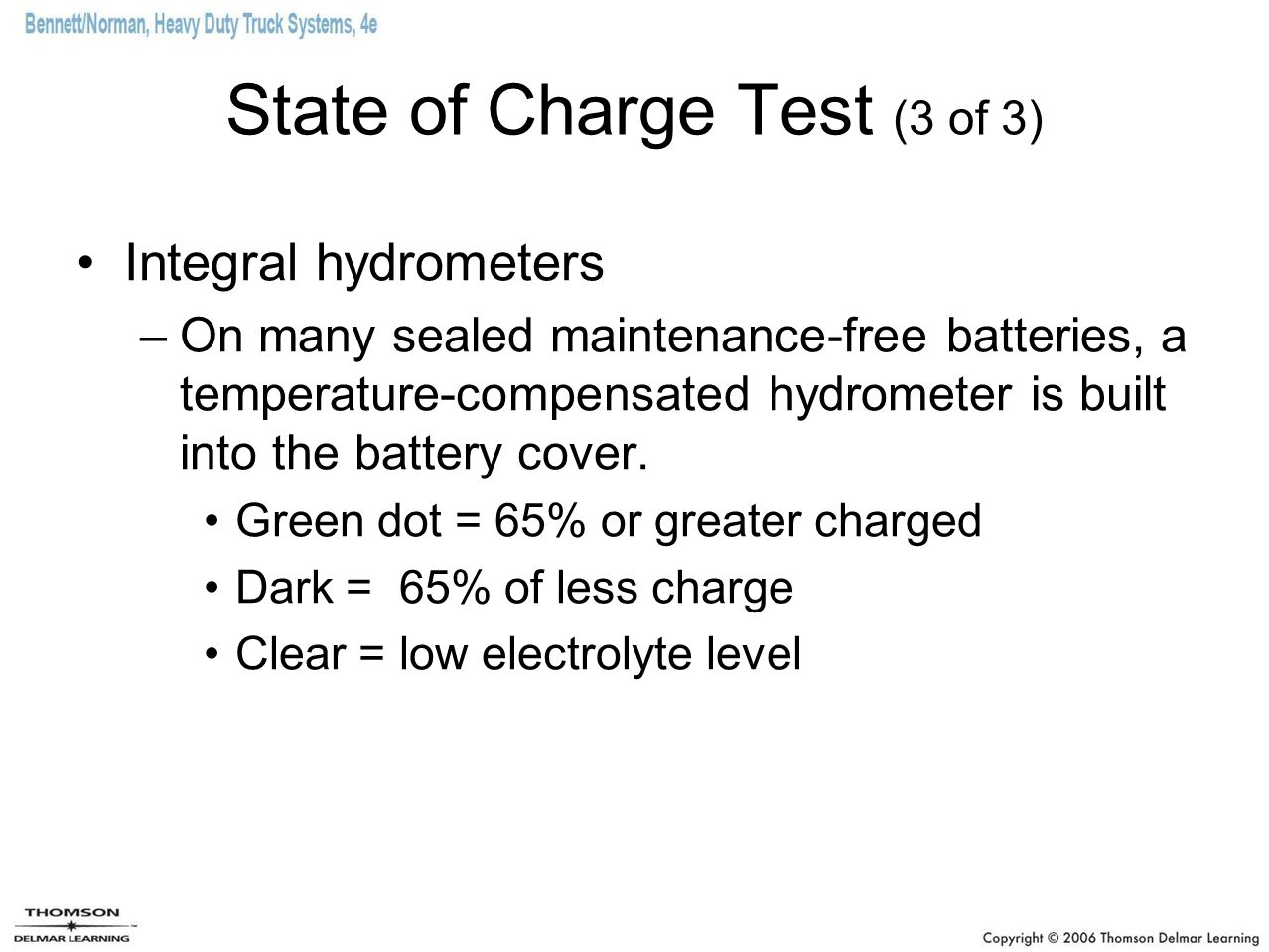 State of Charge Test (3 of 3)