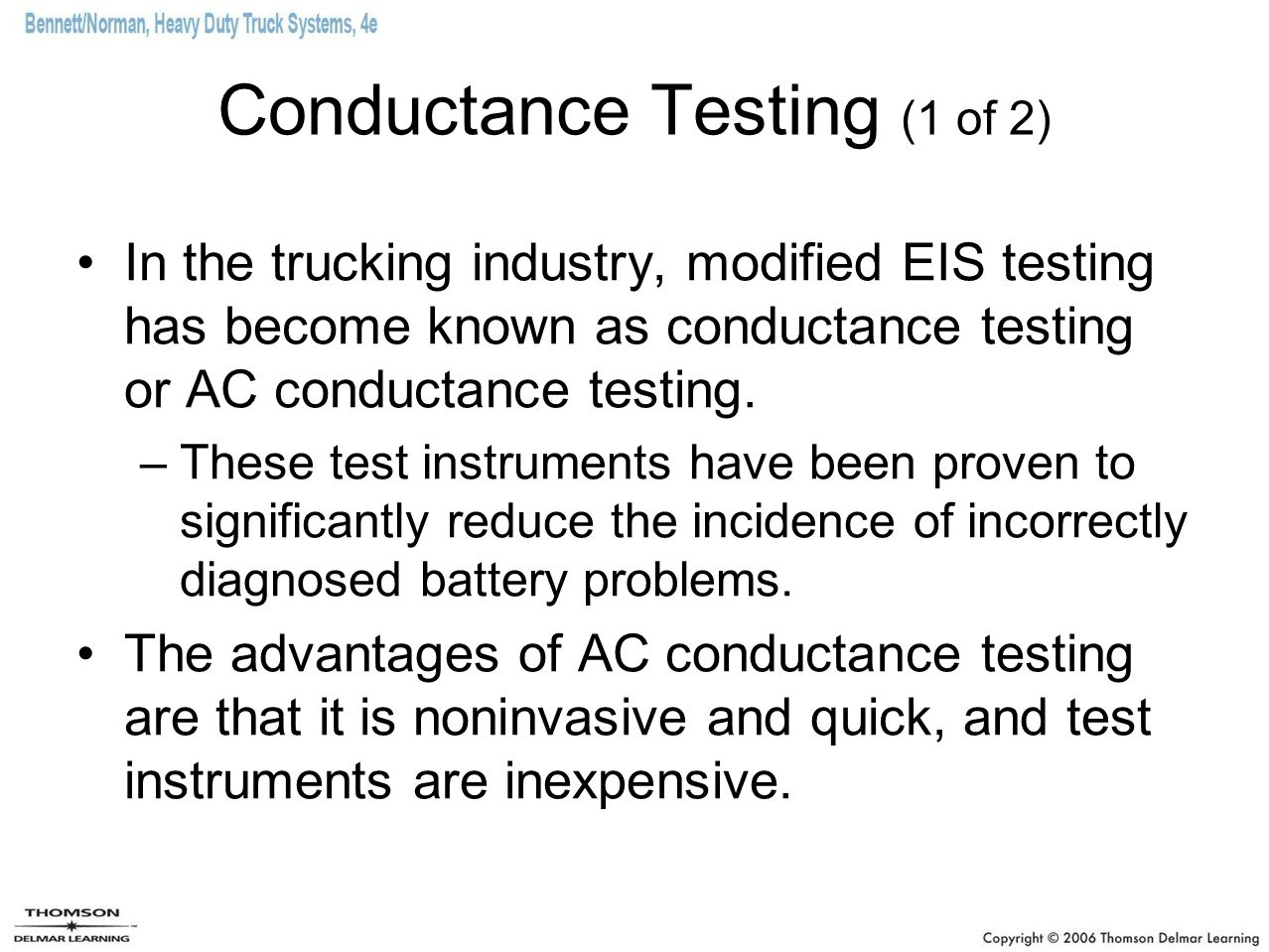 Conductance Testing (1 of 2)