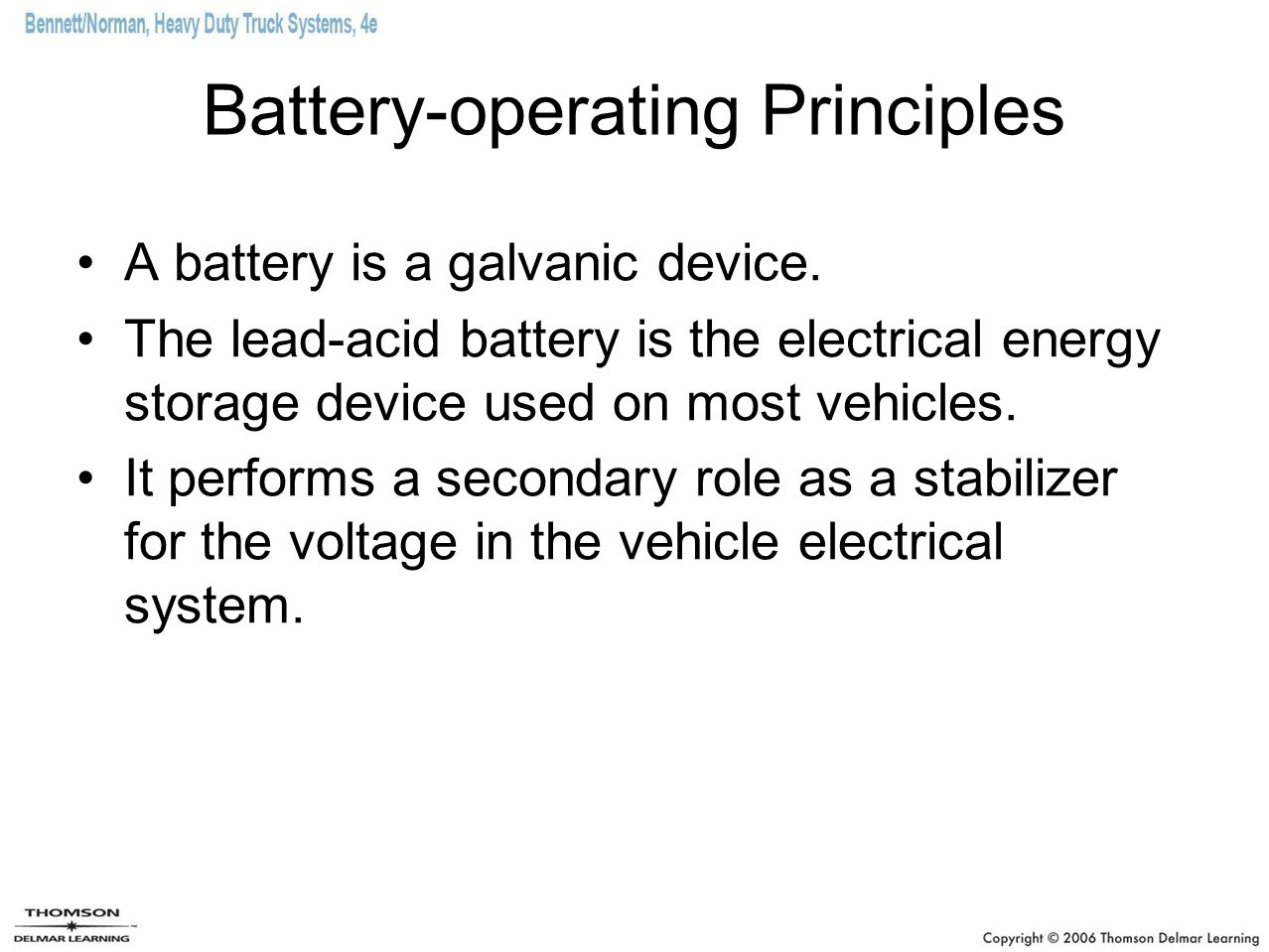 Battery-operating Principles