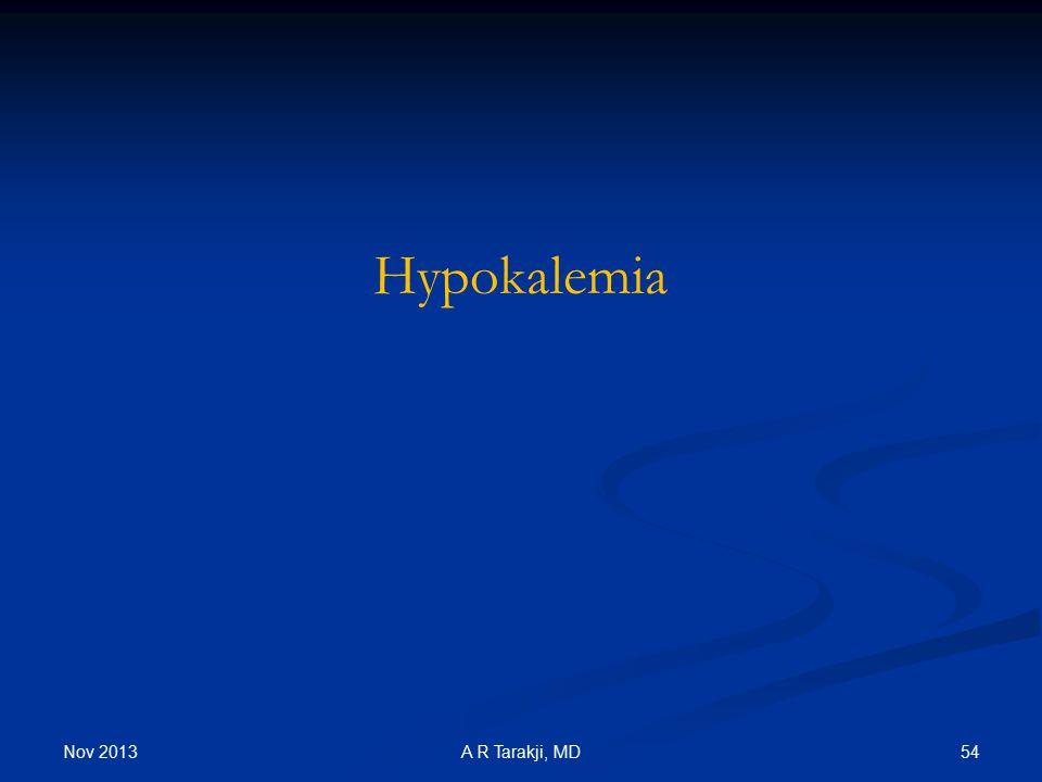 Hypokalemia Nov 2013 A R Tarakji, MD