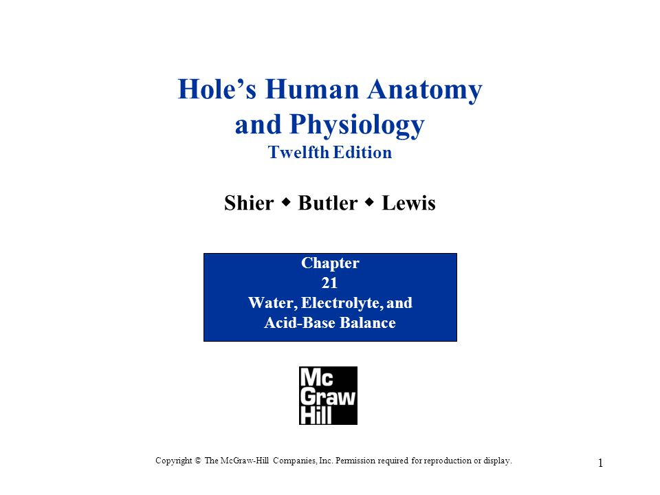 Chapter 21 Water, Electrolyte, and Acid-Base Balance