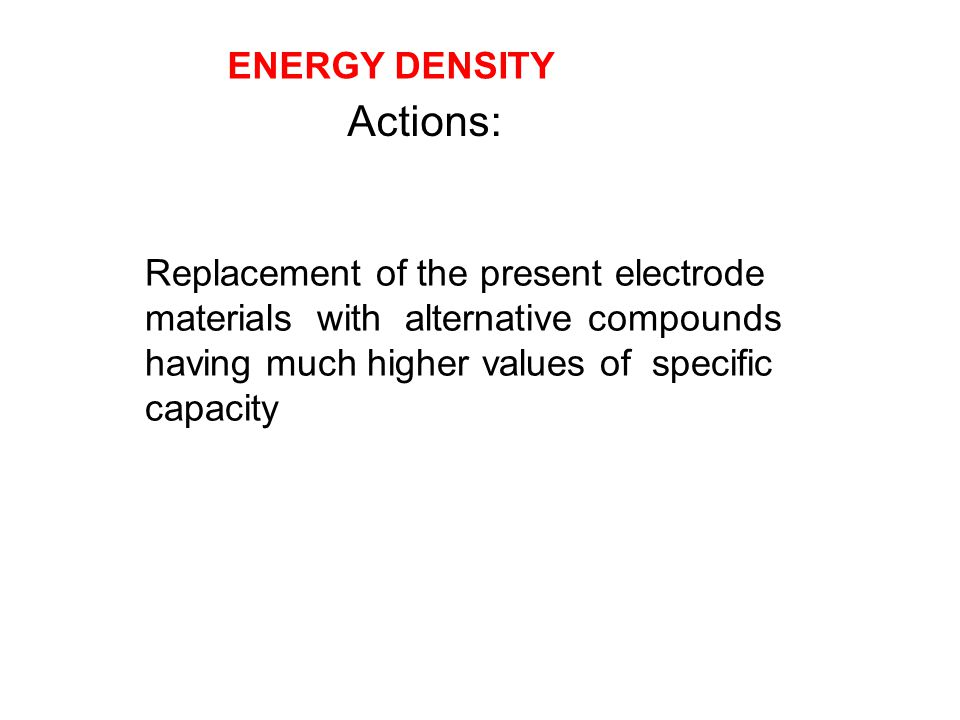 Actions: ENERGY DENSITY