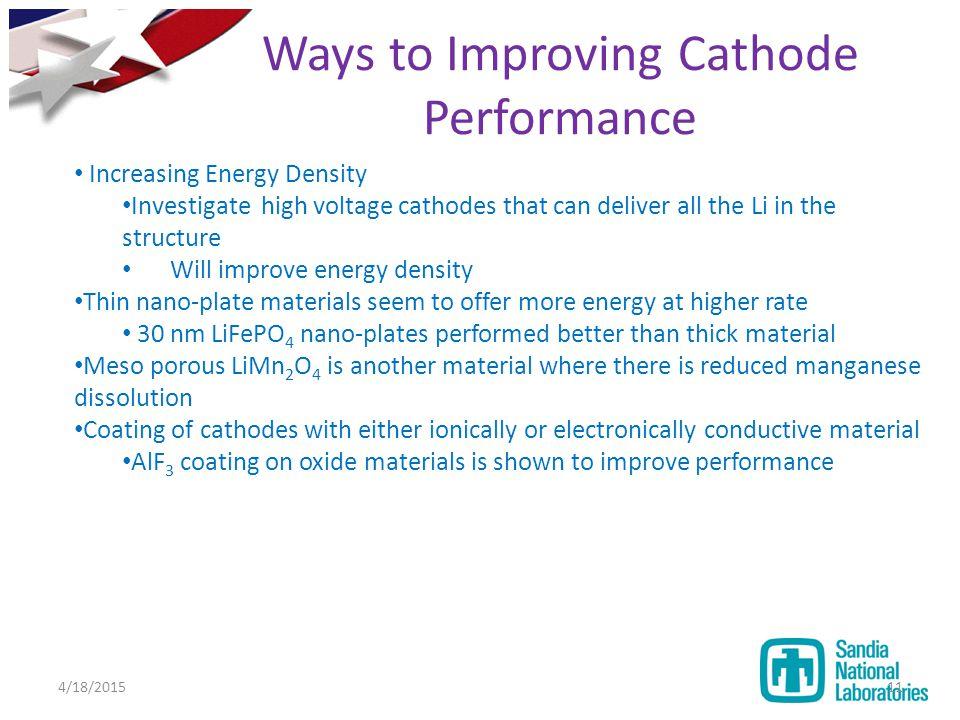 Ways to Improving Cathode Performance