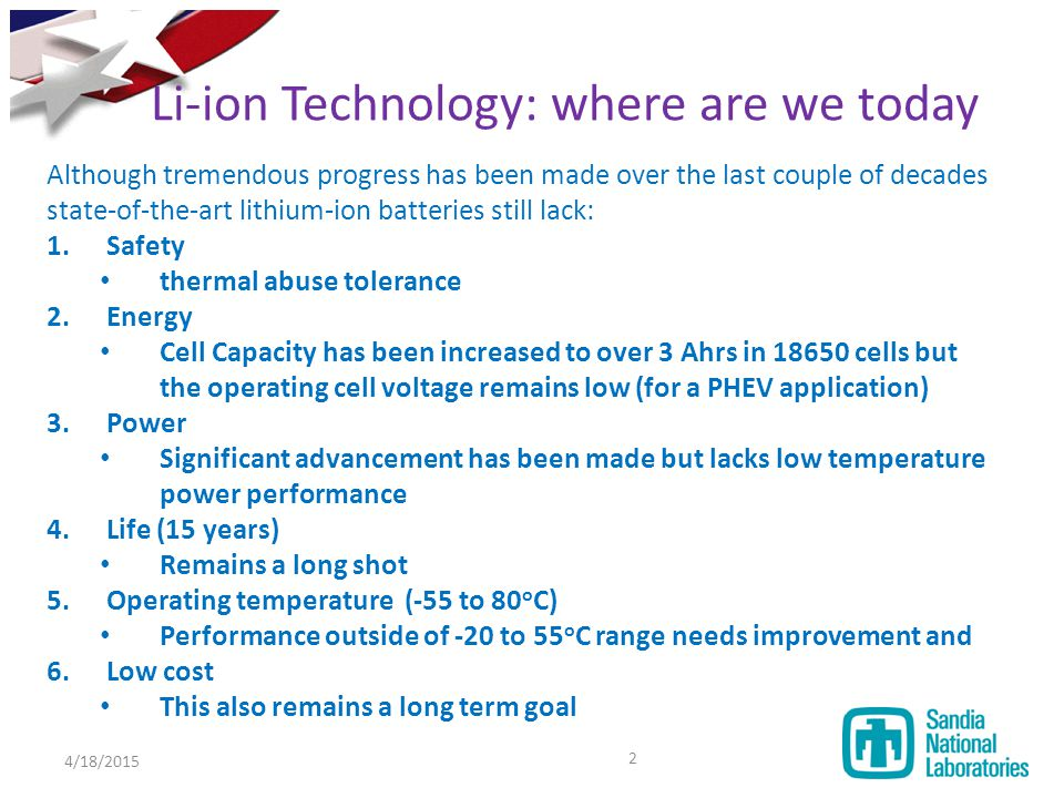Li-ion Technology: where are we today