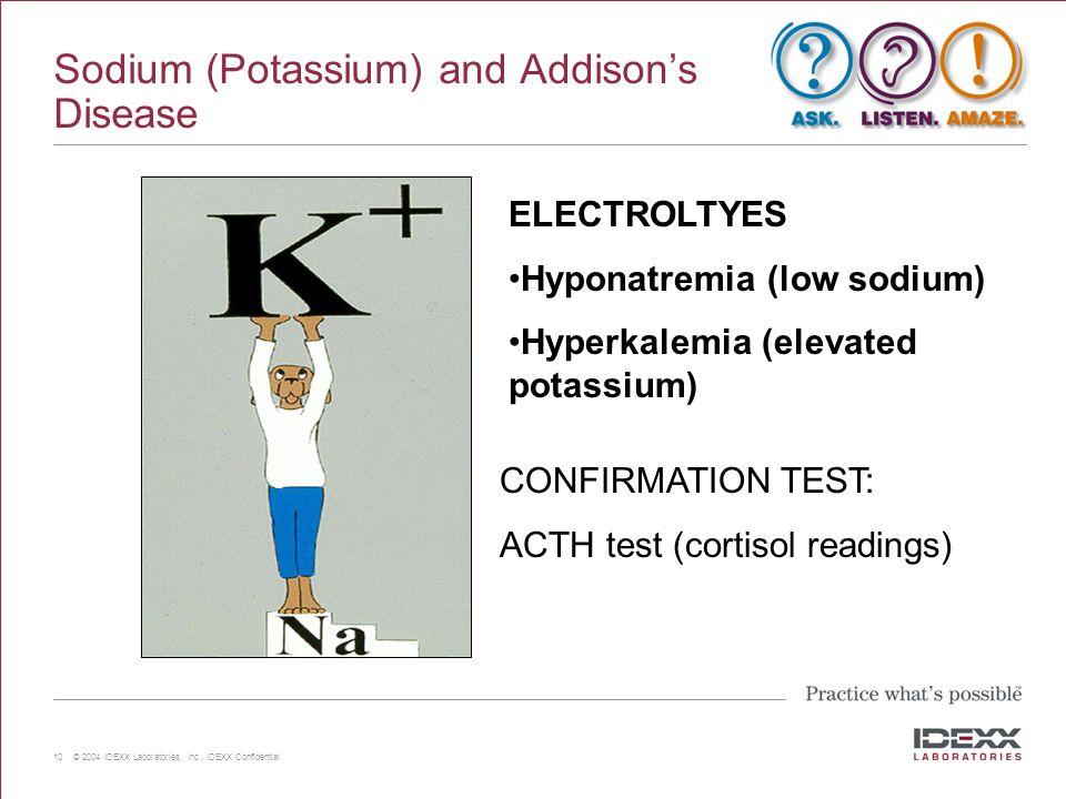 Sodium (Potassium) and Addison's Disease