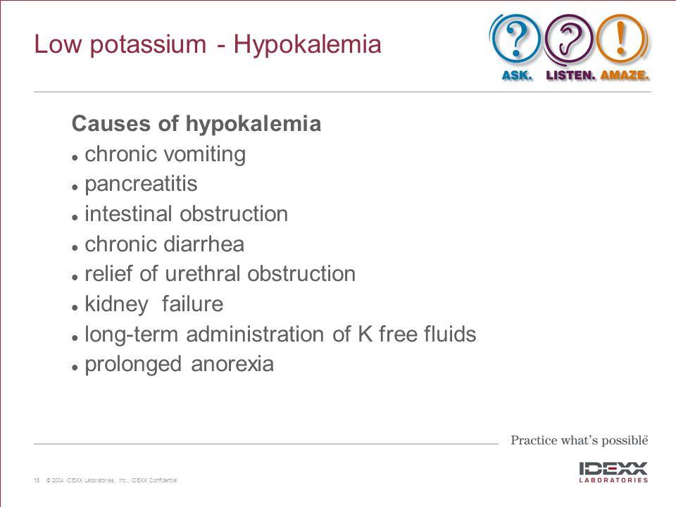 Low potassium - Hypokalemia