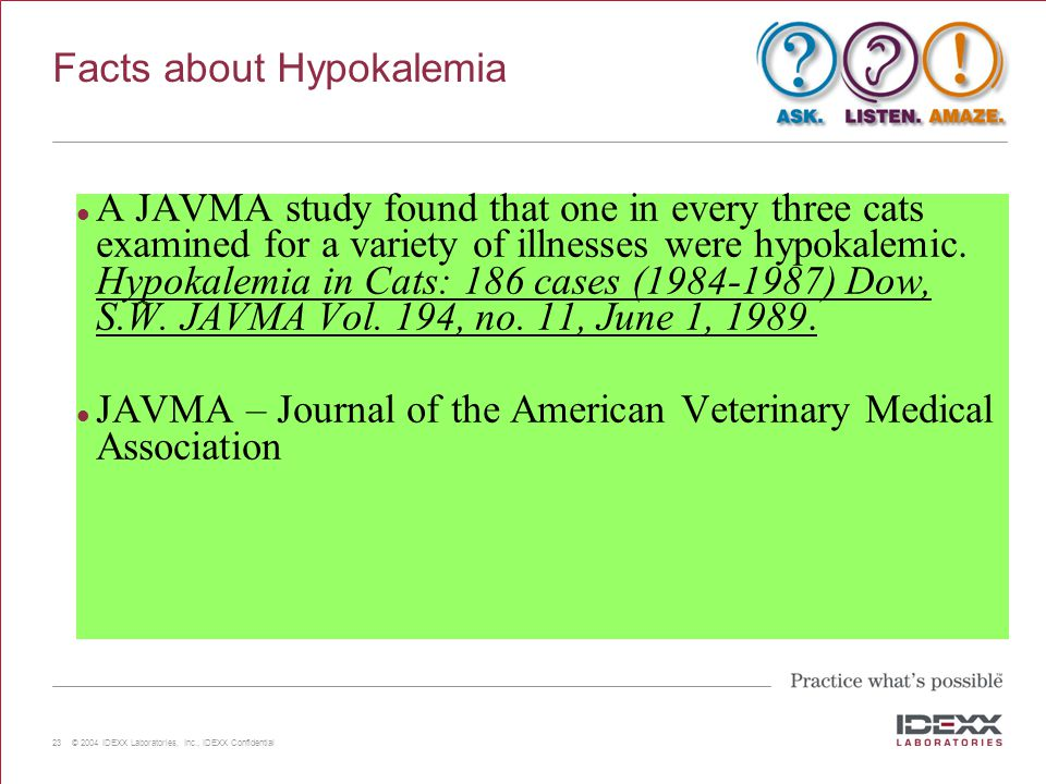 Facts about Hypokalemia