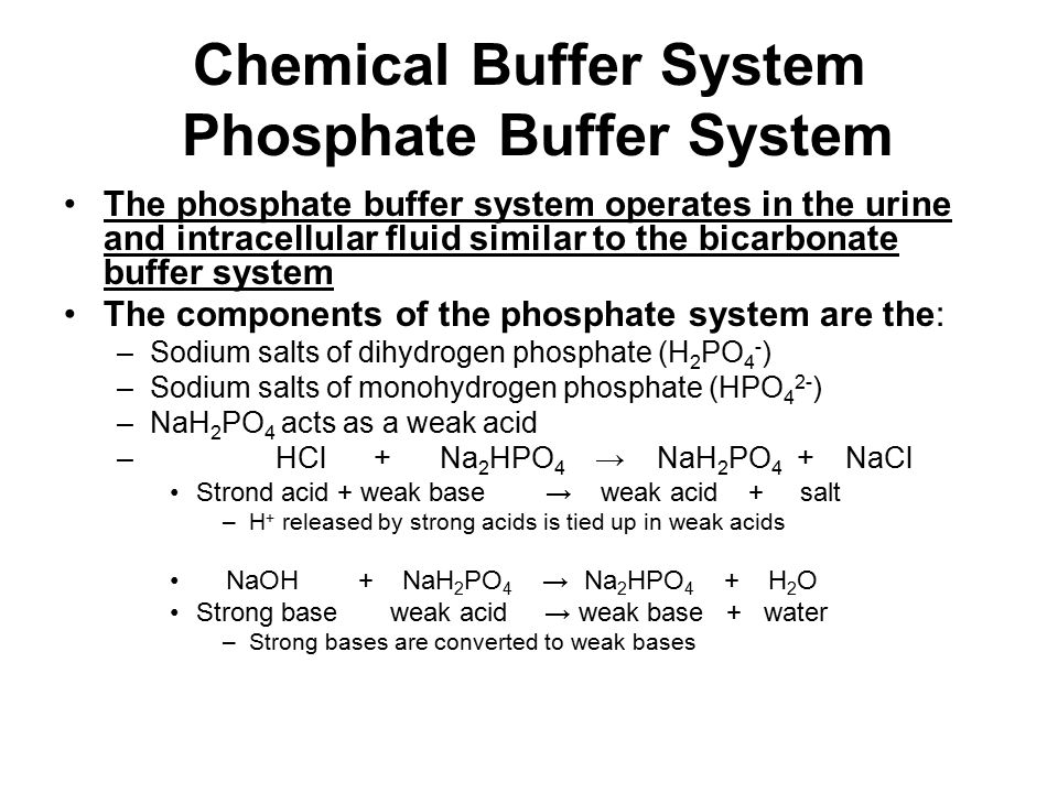 Chemical Buffer System Phosphate Buffer System