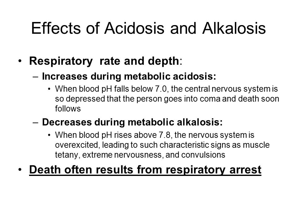 Effects of Acidosis and Alkalosis