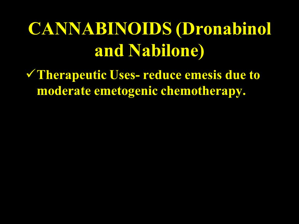 CANNABINOIDS (Dronabinol and Nabilone)