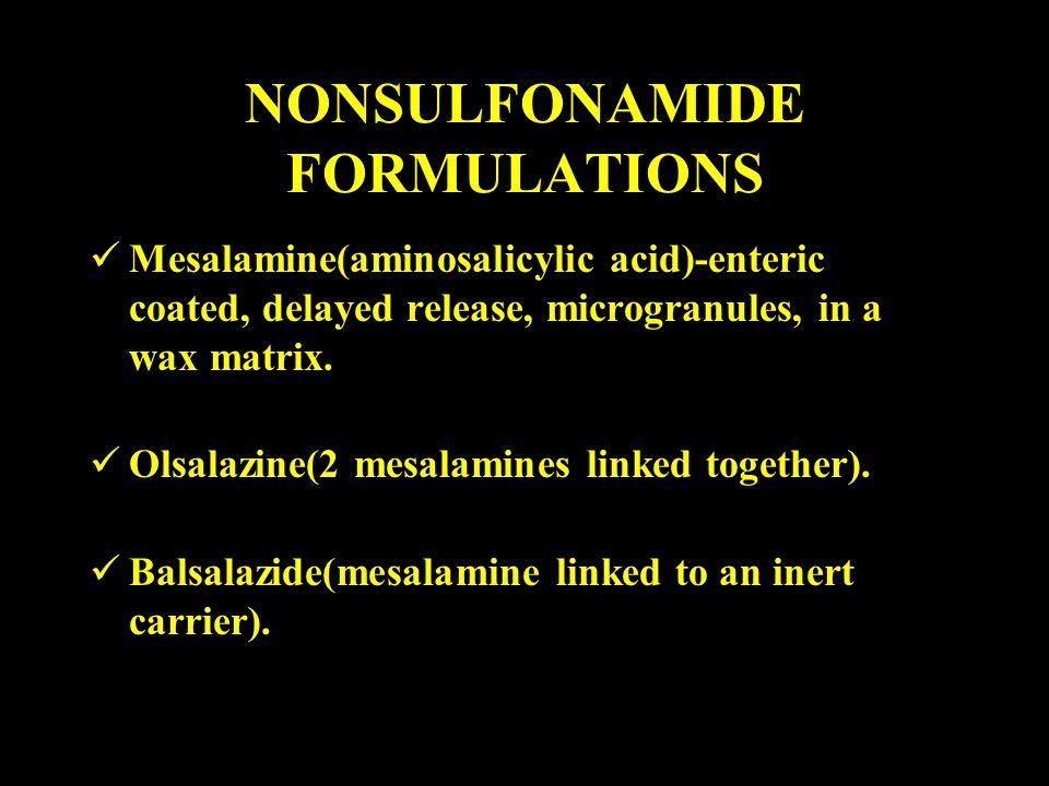 NONSULFONAMIDE FORMULATIONS