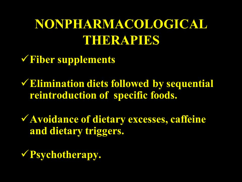 NONPHARMACOLOGICAL THERAPIES