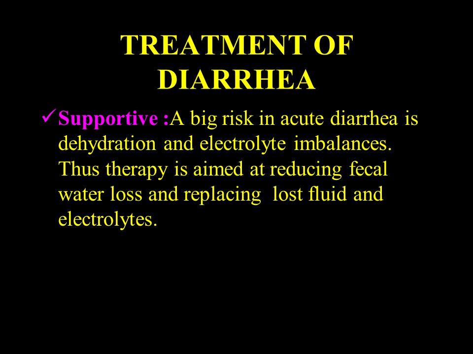TREATMENT OF DIARRHEA