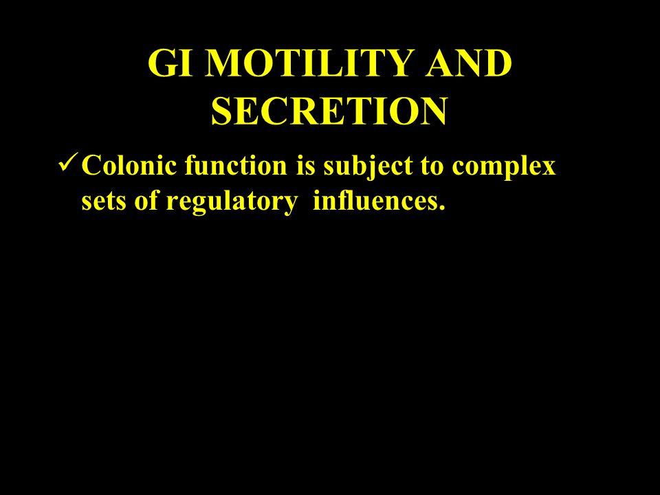 GI MOTILITY AND SECRETION