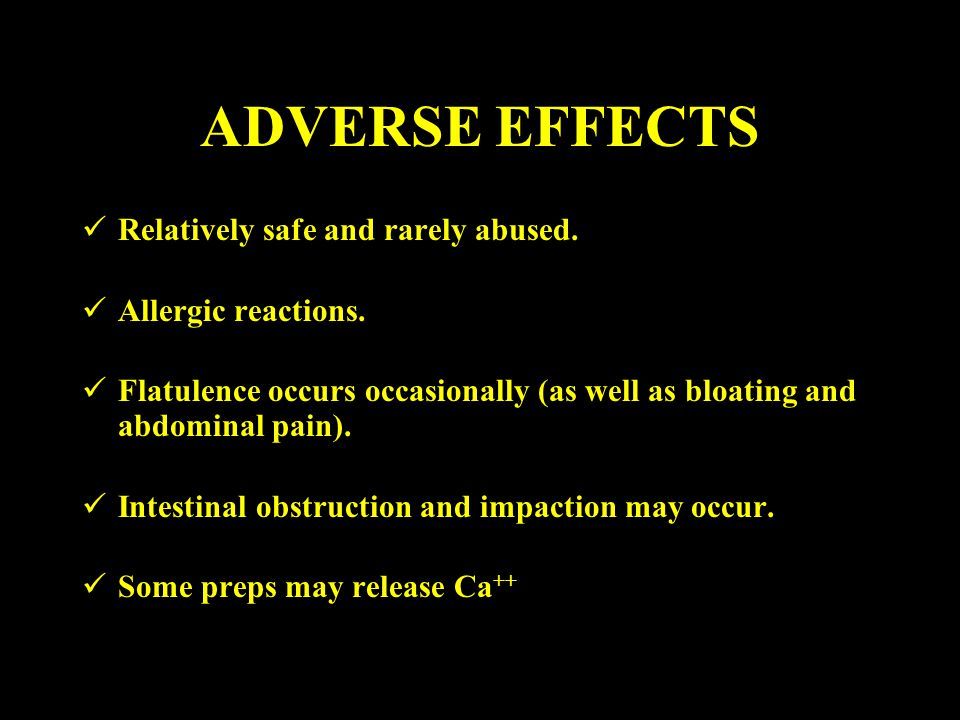 ADVERSE EFFECTS Relatively safe and rarely abused. Allergic reactions.