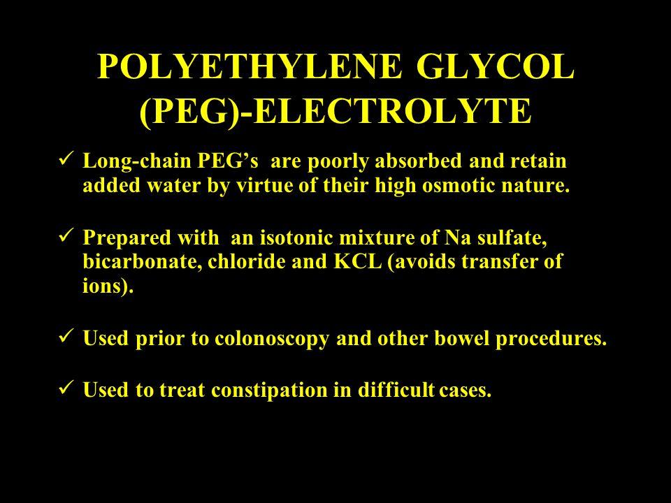POLYETHYLENE GLYCOL (PEG)-ELECTROLYTE