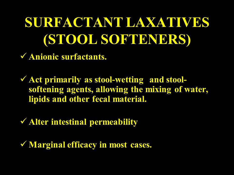 SURFACTANT LAXATIVES (STOOL SOFTENERS)