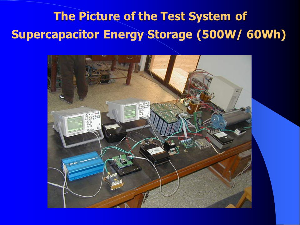 The Picture of the Test System of Supercapacitor Energy Storage (500W/ 60Wh)