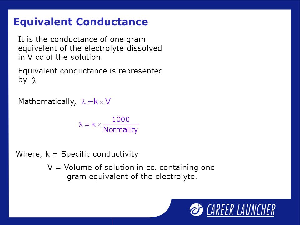 conductance and conductivity relationship help