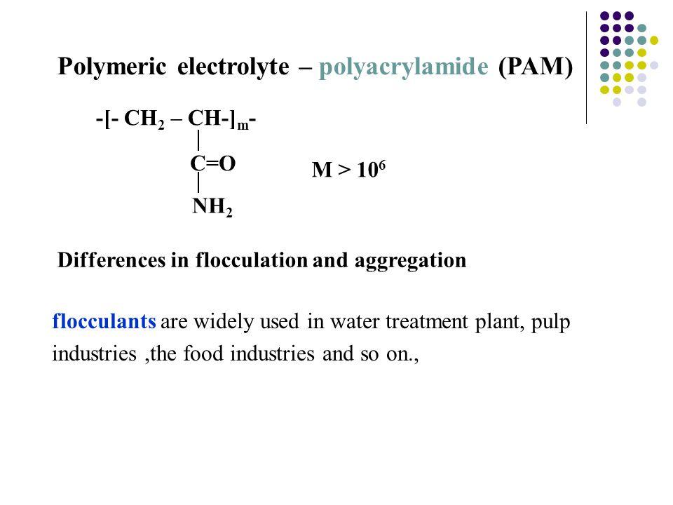 Polymeric electrolyte – polyacrylamide (PAM)