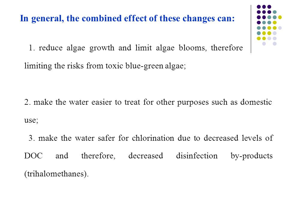 In general, the combined effect of these changes can: