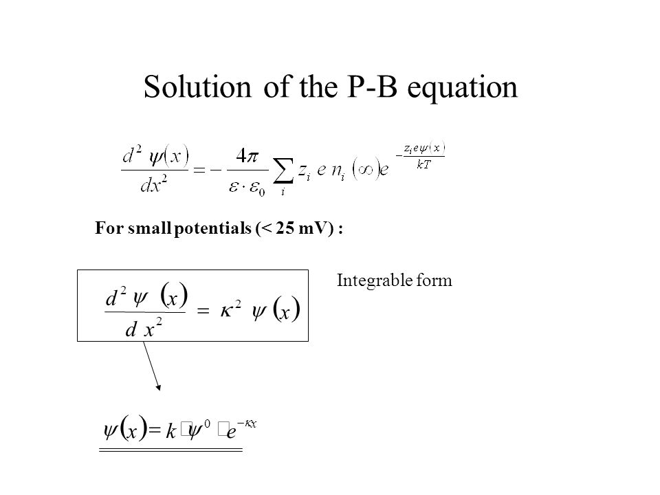 Solution of the P-B equation